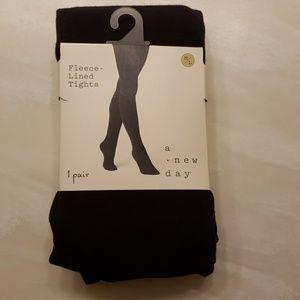 Brand new fleece lined black tights